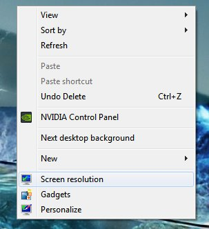 how to change screen resolution windows 7