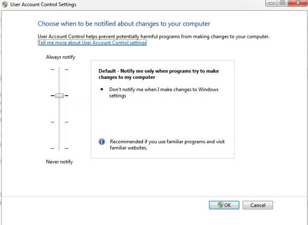 how to change uac levels windows 7 02