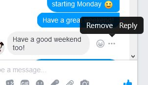 Remove message from Facebook Messenger