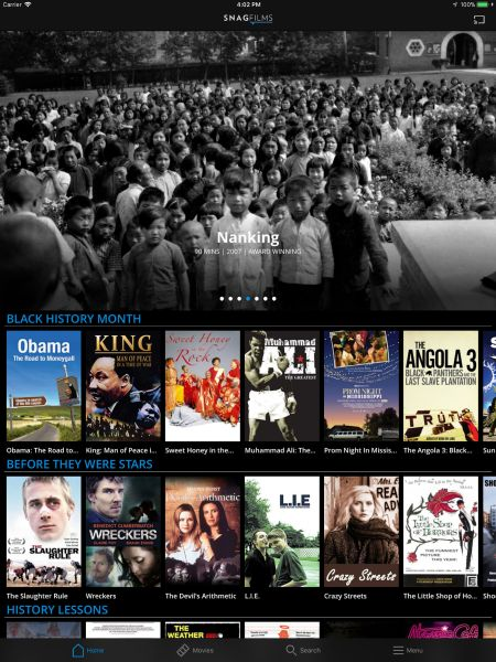 Snag Films app for free Apple TV movies