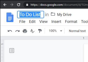 To do list Google Docs - Naming it