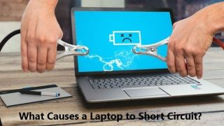 What causes a laptop to short circuit