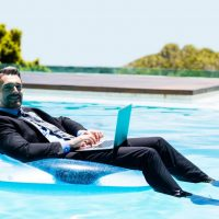 how to use a laptop in a pool
