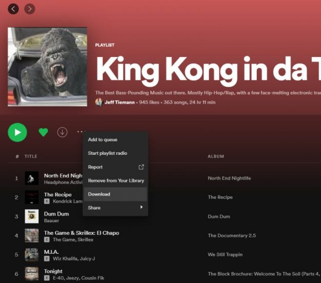 spotify download music