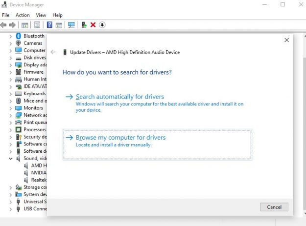install new drivers to get rid of crackling noises