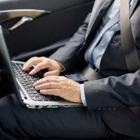 charging laptop in car cigarette lighter