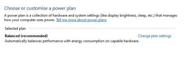 laptop battery power plan